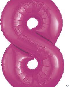 Number 8 Pink