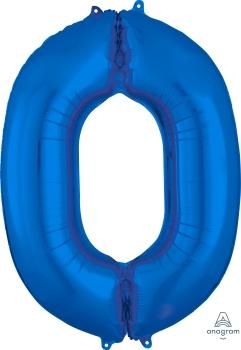 Number 0 Blue