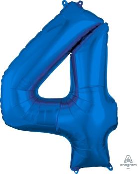 Number 4 Blue