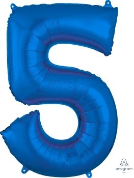 Number 5 Blue