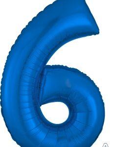 Number 6 Blue