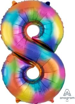 Number 8 Rainbow Splash
