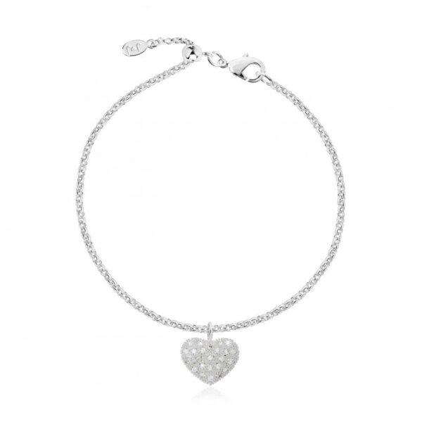 Bella Pave Heart Bracelet