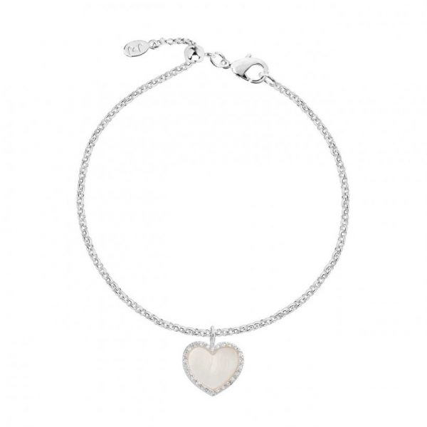 Pearlina Mother Of Pearl Heart Bracelet