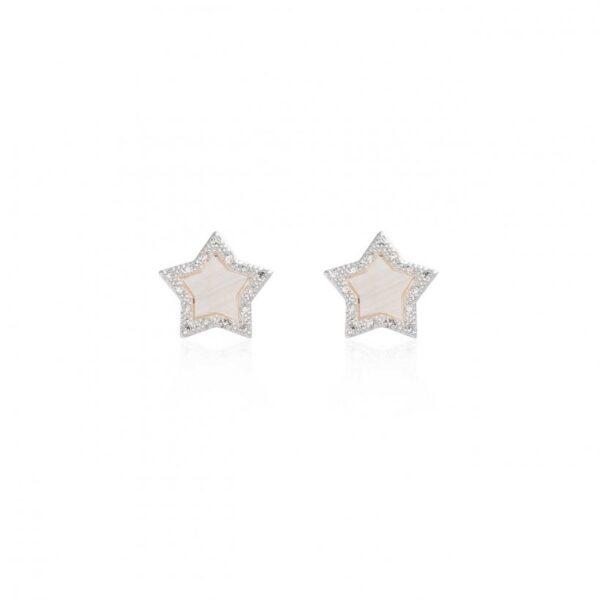 Pearlina Mother Of Pearl Star Stud Earrings