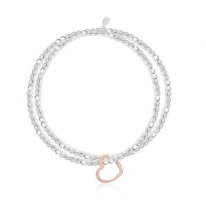 Lila Heart Double Bracelet