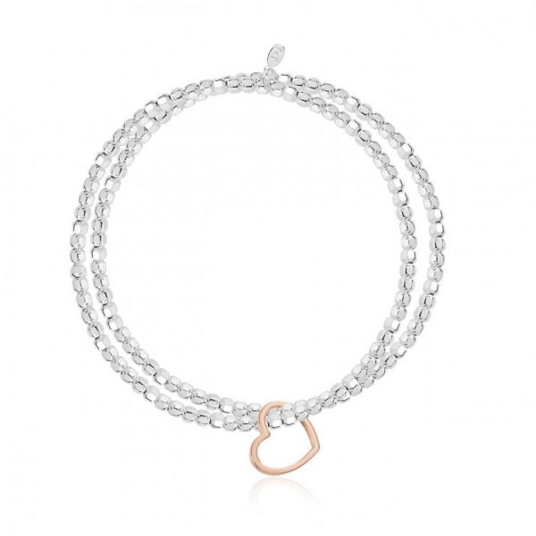 Lila Heart Double Bracelet