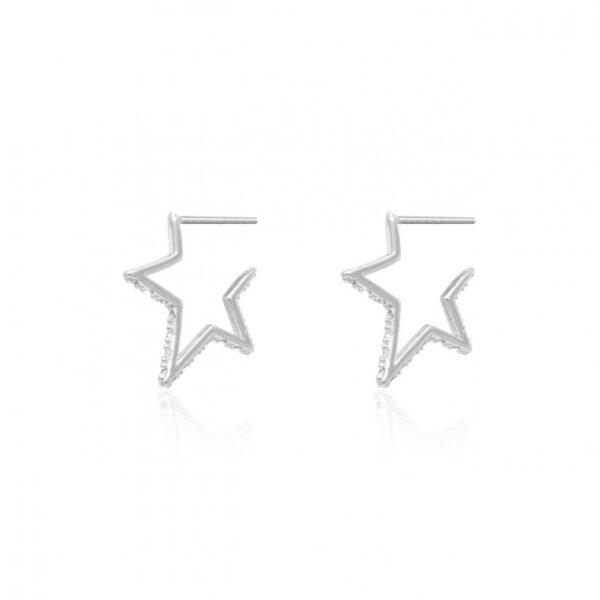 Estelle Star Huggie Hoop Earrings