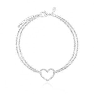 Leyla Silver Heart Bracelet