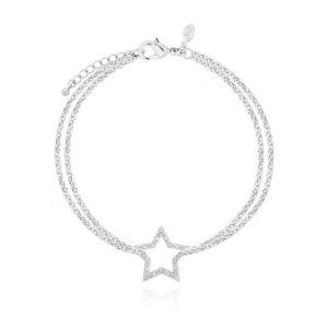 Leyla Silver Star Bracelet