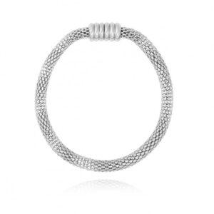Halo Venetian Chain Silver Bracelet