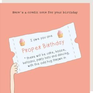 Birthday Credit