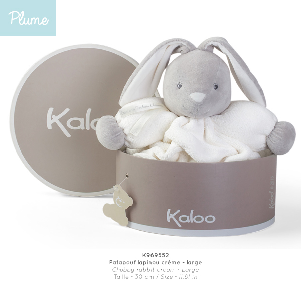 Chubby Rabbit Soft Toy - Cream