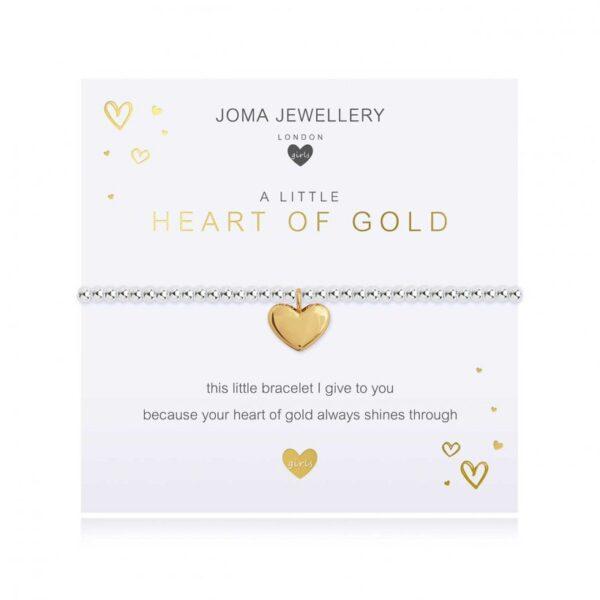 Children's A Little Heart Of Gold Bracelet