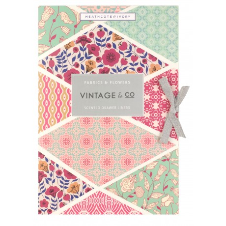 Vintage Fabric Scented Drawer Liners X6 Sheets