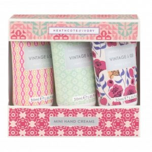 Vintage Fabric Mini Hand Creams 3 X 30ml