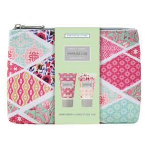 Vintage & Co. Fabric & Flowers - Hands On The Go X2 30ml Hand Creams & Cosmetic Bag