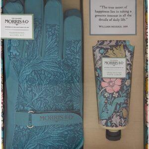 Morris Honeysuckle & Pink Clay Gardening Glove Kit (Cotton Gardening Gloves and 100ml Hand Cream)