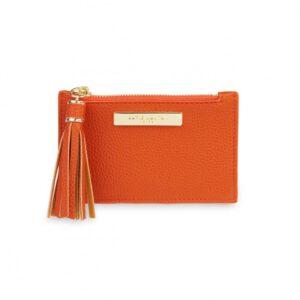 Tassel Card Holder - Orange