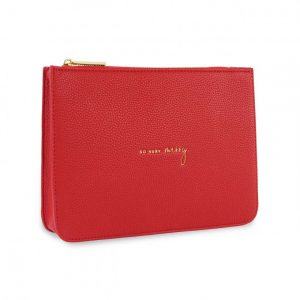 Stylish Structured Coin Pouch - So Merry - Red