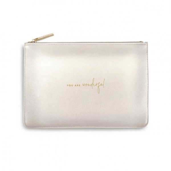 Colour Pop Perfect Pouch - You Are Wonderful - Metallic White