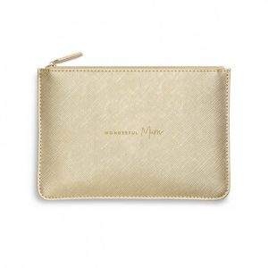 Perfect Pouch - Wonderful Mum - Metallic Gold