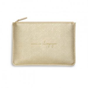 Perfect Pouch - Sparkle Like Champagne - Metallic Gold
