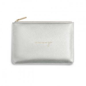 Perfect Pouch - Let The Fun Be-Gin - Metallic Silver