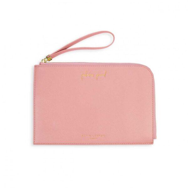 Secret Message Pouch - Fabulous Friend - Near Or Far But Never Apart - Pink