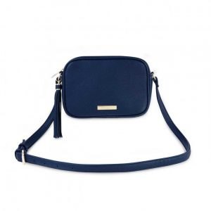 Sophia Tassel Crossbody Bag - Navy
