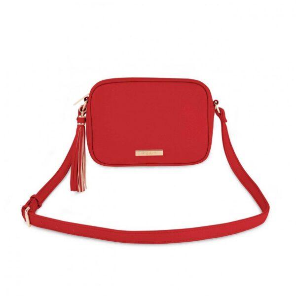 Sophia Tassel Crossbody Bag - Red