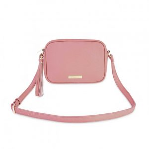 Sophia Tassel Crossbody Bag - Pink