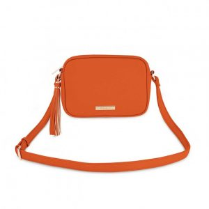 Sophia Tassel Crossbody Bag - Burnt Orange