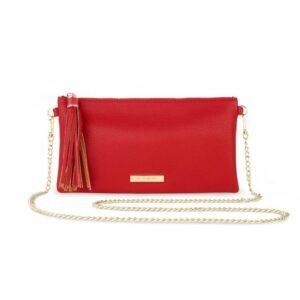 Freya Tassel Crossbody Bag - Red