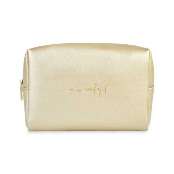 Colour Pop Wash Bag - You Are Wonder - Gold