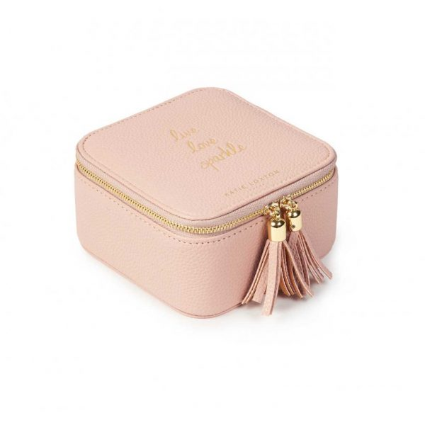 Tassel Square Jewellery Box - Live Love Sparkle - Pink