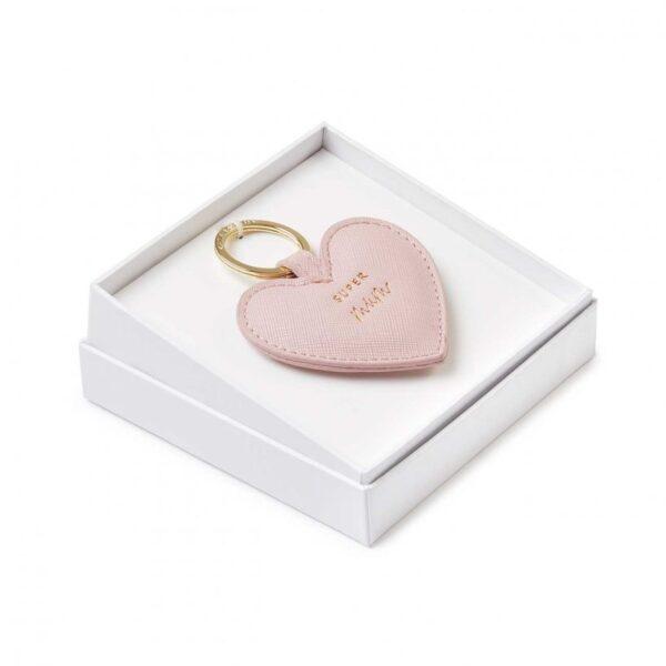 Beautifully Boxed Sentment Keyring - Super Mum - Nude Pink
