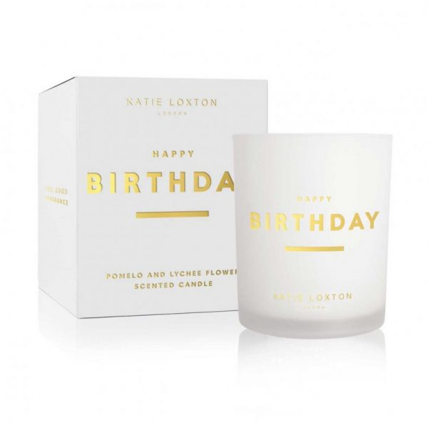 Sentiment Candle - Happy Birthday - Pomelo & Lychee Flower