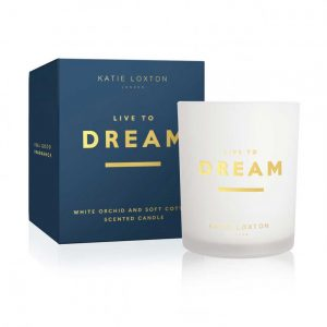 Sentiment Candle - Live To Dream - White Orchid & Soft Cotton