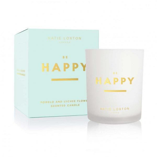Sentiment Candle - Be Happy - Pomelo & Lychee Flower