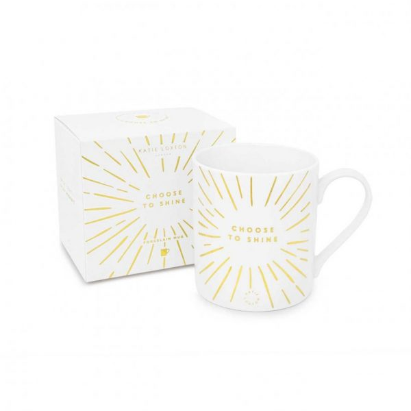 Porcelain Mug - Choose To Shine - White & Gold