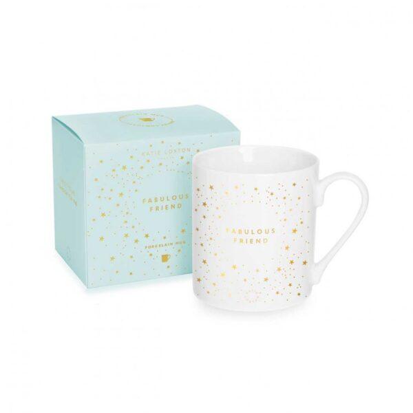 Porcelain Mug - Fabulous Friend - White & Gold