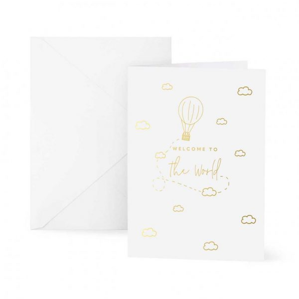 Baby Greeting Card - Welcome To The World