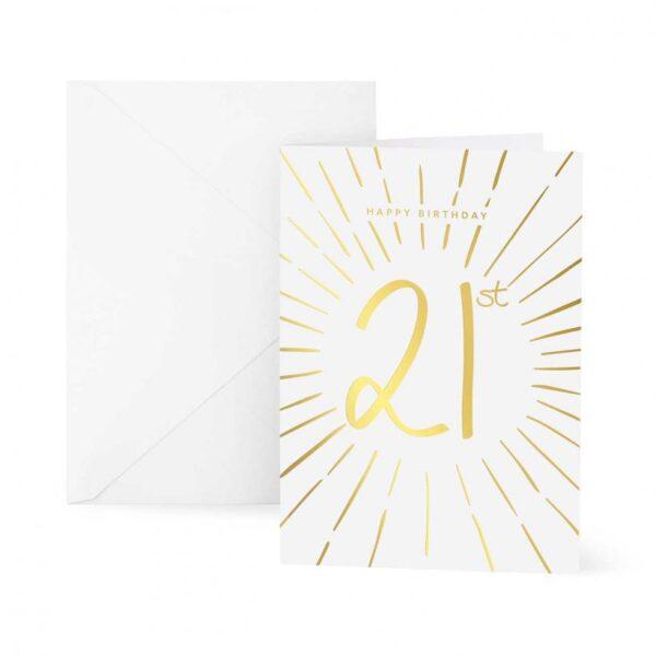 Greeting Card - Happy 21st Birthday