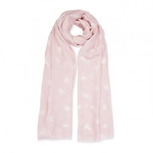 Sentiment Scarf - Fabulous Friend - Nude Pink & White