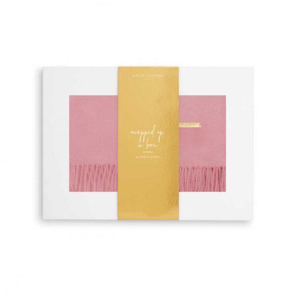 Thick Plain Scarf - Foxglove Pink